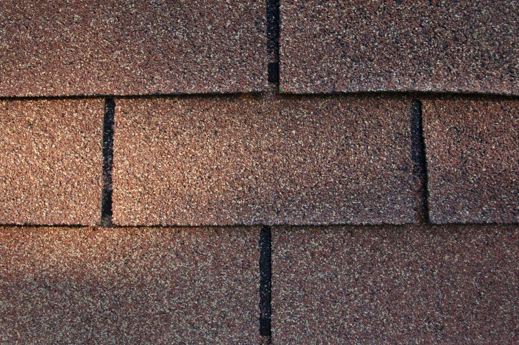 close up of asphalt roof shingle.