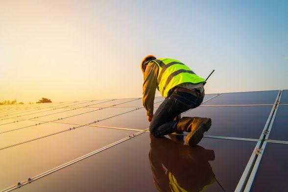 roof repair solar panels