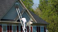 Painter Climbing Ladder
